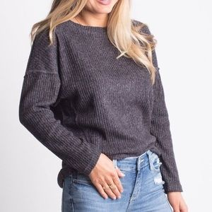 Sweaters - ✨LAST ONE✨ Charcoal Lightweight Sweater